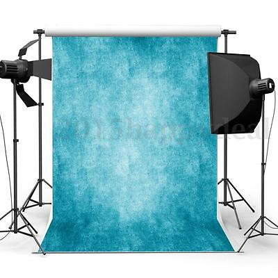 5x7ft Blue Vintage Wall Photography Backdrop Photo Studio Background Props Hot