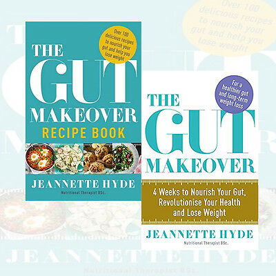 Jeannette Hyde Collection 2 Books Set  The Gut Makeover Recipe Book  New Pack