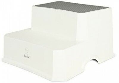 Tippitoes Double Step Stool Strong plastic Anti-slip base to prevent sliding
