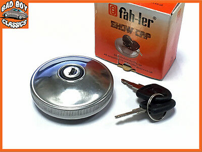 Fahler Polished STAINLESS STEEL Locking Fuel Petrol Cap FORD TRANSIT MK1, MK2