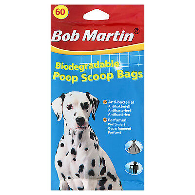 Bob Martin Anti-Bacterial Poop Scoop Bags. Pack of 60