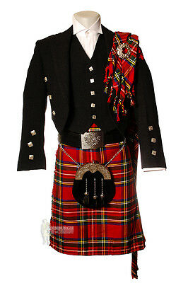 Deluxe Fly Plaid For Kilt Outfits - Scottish Tartan - Stewart Royal