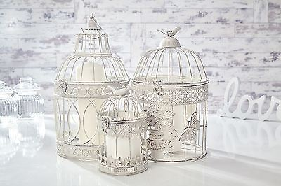 Wedding Shabby Chic Birdcage Centrepieces Bird Cage Candle Holder Round Square