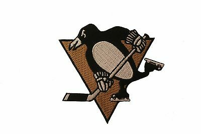 Pittsburgh Penguins Nhl Logo Embroidered Iron-On Patch Crest Badge 2.5 X 3 In.