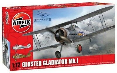 Airfix Gloster Gladiator Building Kit, 1:72 Scale