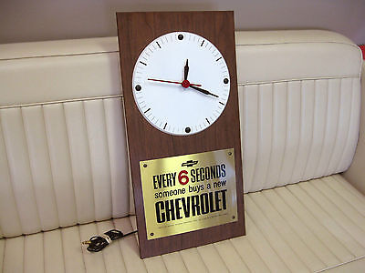 "1966-69 Chevrolet Dealer Showroom Electric Clock ""Every 6 Seconds"" - Works Great"
