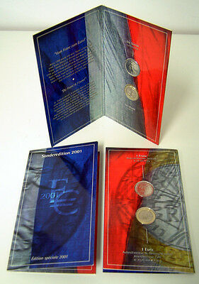 Bu France Euro 2001 Neuf Sous Blister French Official Euro Coin