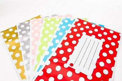 Polka Dot Printed Self Seal Plastic Mailing Bags Assorted Colours and Sizes