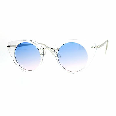 628243b14f WOMENS FASHION SUNGLASSES Gold Angled Round Double Frame Ombre Color ...