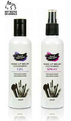 Makeup Brush Cleaner/Cleansing Gel & Spray Set - 250ML - Cleans Makeup Brushes