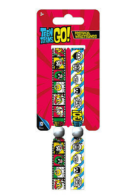 Teen Titans Go! Pack Of 2 Fabric Festival Wristbands FWR68055