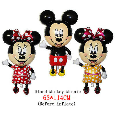 1PC 114cm Mickey Mouse Minnie Foil Balloon Baby Shower Kids Birthday Party Decor