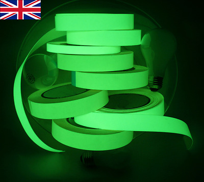 Glow In The Dark Sticky Tape Self Adhesive Luminous Saftey Film Sticker Roll