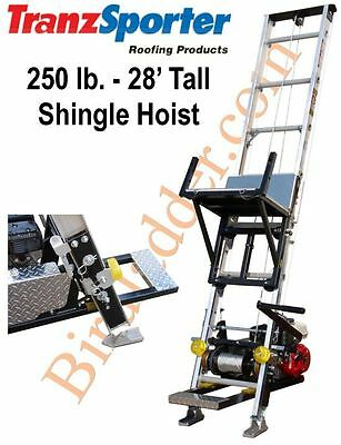 TranzSporter TP-250 Roofing Shingle Hoist 28' Tall 250 lb - 4.0 HONDA Gas Motor