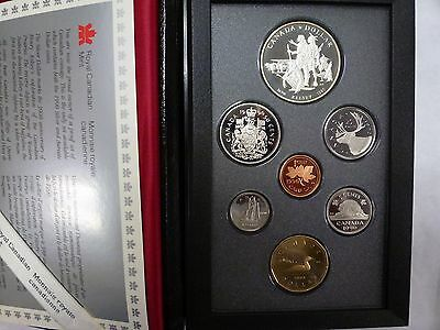 {BJSTAMPS}  1990 Canada Double Dollar Proof Set SILVER Kelsey dollar