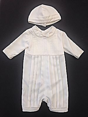 BNWT FIRST OCCASION RRP £80 Boys Ivory Christening outfit & Hat Age 0-6 & 6-12mn