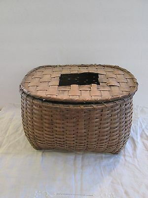 Antique Hand Made Wicker Fishing Creel