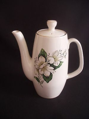 Sylvac Ware -Coffee Pot -828 White Rose Pattern