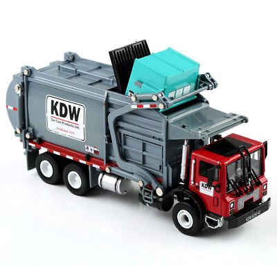 1/24 Scale Diecast Material Transporter Garbage Trucks Model Toy KDW