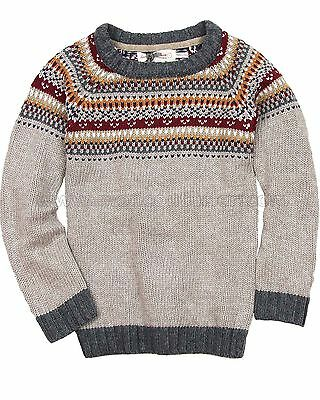 Deux par Deux Boys' Fair Isle Sweater Play It Like Crockett, Sizes 4-12