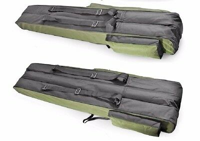190cm long Fishing Rod Holdall Bag Carry Case Luggage for rods with reels DRAGON