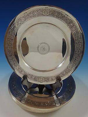 Persian by Tiffany and Co Sterling Silver Charger Plates Set Of 12 (#1236)