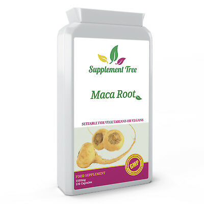 Maca Root Extract 2500mg 120 Capsules High Strength Maca Powder Supplement Vegan