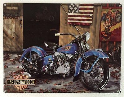 Ande Rooney HARLEY DAVIDSON AT YOUR SERVICE Motorcycle HD Garage Tin Sign New