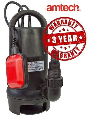 Amtech 750W Submersible WATER PUMP For Dirty Water Flooding Basements Foundation
