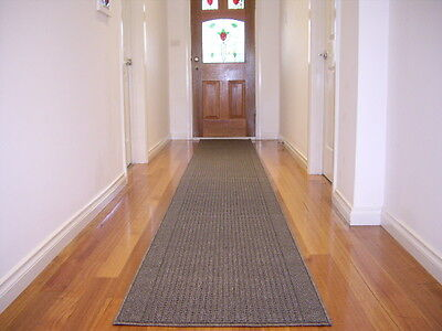 Premium Quality Hall Runner Rug 5 Metres Long FREE DELIVERY Braxton Grey