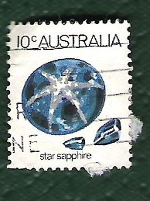 Australia Post Stamp 1974 Star Sapphire-10c- hinged- MORE DETAIL IN DESCRIPTION