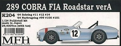 MFH 1/24 289 Cobra FIA Roadstar '64 Sebring & nurburgring Full detail kit