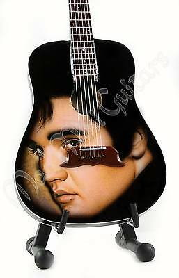 Miniature Guitar ELVIS PRESLEY with stand.