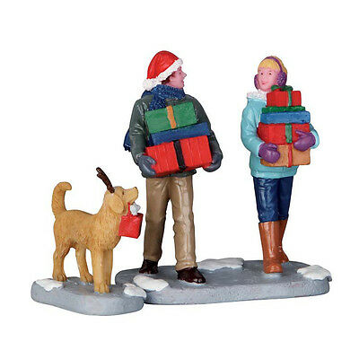 New Lemax Figurines 62445 Christmas PArty Set Of 2  Polyresin 2016