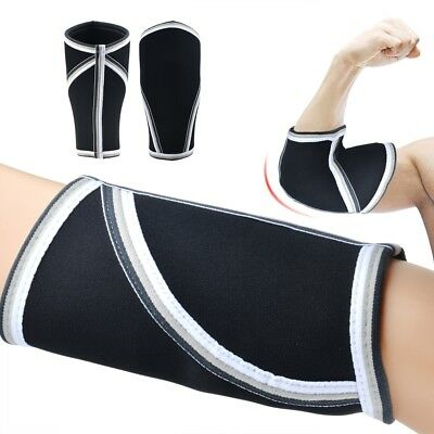 Elbow Sleeves 1 Pair Support & Compression for Weightlifting Power-lifting 5mm