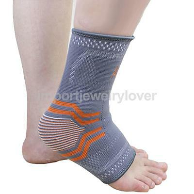 Ankle Support Protection Sport Sock Running Injury Sprain Brace Elastic Wrap
