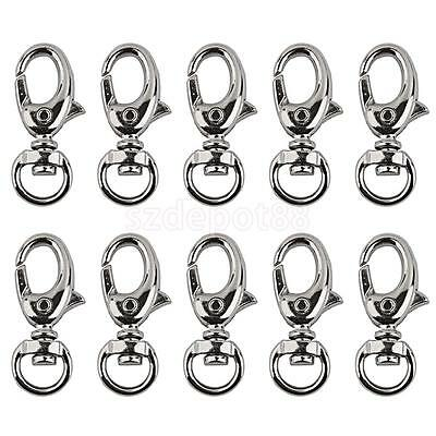 10pcs Bag Clasps Lobster Swivel Trigger Clips Snap Hooks fit 9mm Strapping