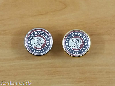 "vis0778 Pins Rond Logo "" Indian Motorcycle 1901 """