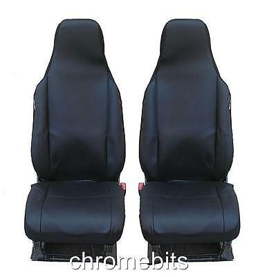 Black Fabric Seat Covers 1+1 For Smart Fortwo 2014+