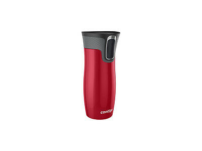 Contigo 470ml West Loop Stainless Steel Travel Mug Cup Autoseal Technology Red