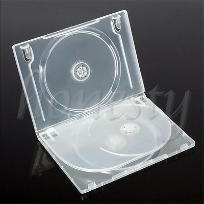 Standard Clear 3 Disc Holds DVD CD Case Movie Box Storage Holder Cover 14mm