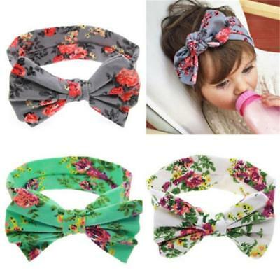 Baby Girls Toddlers Floral Flower Cotton Big Bow Hair band Headbands Accessories