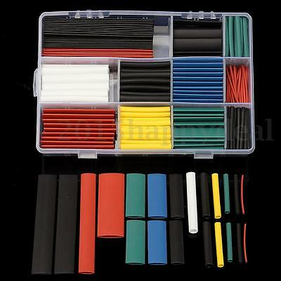 300Pcs Heat Shrink Car Electrical Wire Cable Tubing Tube Sleeving Wrap With Box