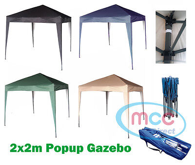 Mcc® 2x2m Pop-up Gazebo Waterproof Outdoor Garden Marquee Canopy