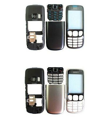 New full housing bezel cover case keyboard keypad for Nokia 6303 BLACK SILVER