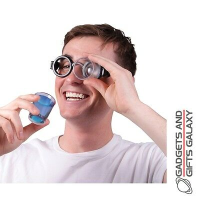 GOGGLE SHOTS PAIR OF SPECTACLES WITH SHOT GLASSES gadget novelty gift adults