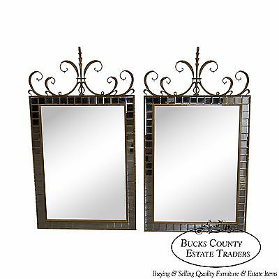 Quality Pair of French Style Gilt Frame Wall Mirrors by Carvers Guild