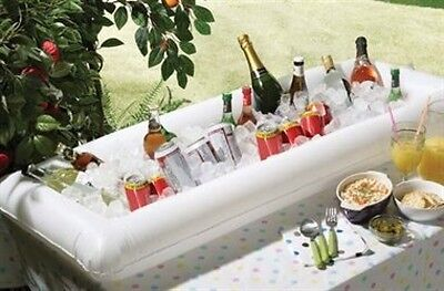 Inflatable Wine Bar Beer Bottle Cooler Ice Bucket Swimming Pool Tray Table Party