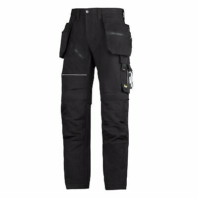 Snickers Trousers 6202 Ruffwork Holster Pocket Trousers Mens Black SnickerDirect