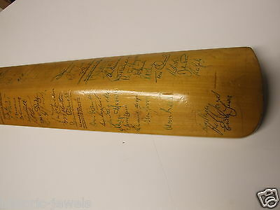 signed Gunn & Moore bat West Indies etc MASS SIGNED